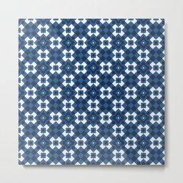 Retro Blue Architetural Decorative Home Decor Design Metal Print