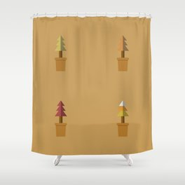 Potted Plants In Autumn Shower Curtain