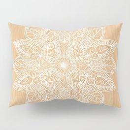 Leaf mandala - wood Pillow Sham