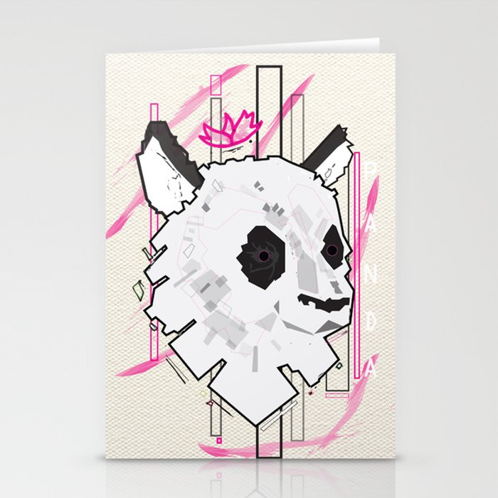 Queen Panda Stationery Cards