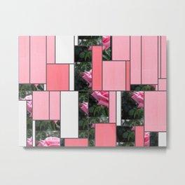 Pink Roses in Anzures 6 Art Rectangles 9 Metal Print