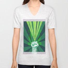 Green Lantern's light Unisex V-Neck