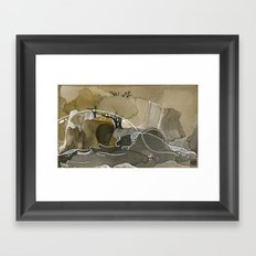 India & Payne Surface Framed Art Print