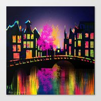amsterdam Canvas Prints featuring Amsterdam  by mark ashkenazi