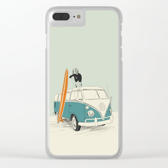 Wild Surfer Clear iPhone Case