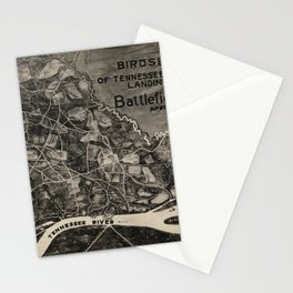 Vintage Map of The Shiloh Battlefield (1917) Stationery Cards