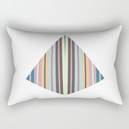 triangle meets strips Rectangular Pillow
