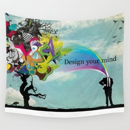 The powerfull mind Wall Tapestry