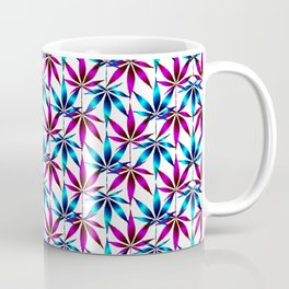 WEED LOVE, FUCHSIA BLUE Cannabis Smoke Marijuana Coffee Mug
