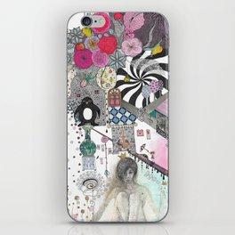 """Flowers""  Illustrated print iPhone Skin"