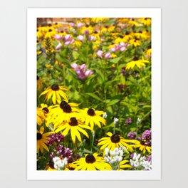 70s Summer ~ flowers Art Print
