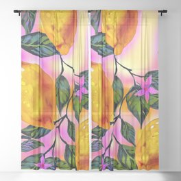 Lemon Tree Sheer Curtain