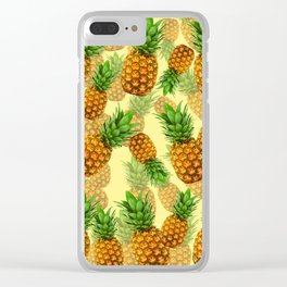 Pineapple Party Clear iPhone Case