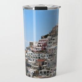 Town Of Positano, Amalfi Coast Travel Mug