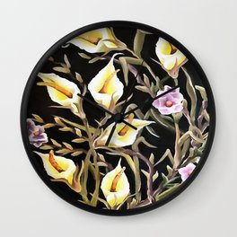 Arum Lily Artistic Floral Design Wall Clock