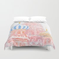 russian Duvet Covers featuring Russian Winter by digital2real