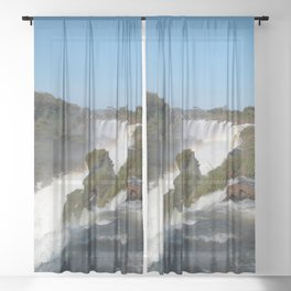 Iguazu Iguassu Waterfall Landscape Panorama Scenery, Brazil Argentina 10 Sheer Curtain