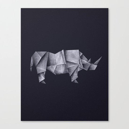 Rhinogami Canvas Print