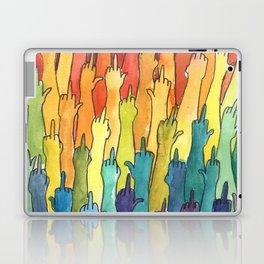 fuck-off in rainbow power Laptop & iPad Skin