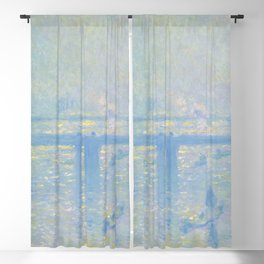 "Claude Monet ""Charing Cross Bridge"" (1899) Blackout Curtain"