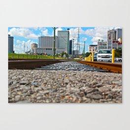 Tracks Leading Forward Canvas Print
