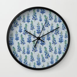 Blue Bonnets Wall Clock