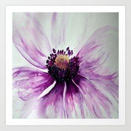 Sweet Anemone of Purple watercolor by CheyAnne Sexton Art Print