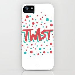 Twist N.9 Modele Rond iPhone Case