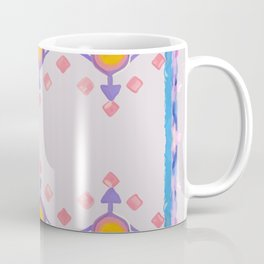 Painted Indian Tribal Pattern Dusky Pink Coffee Mug