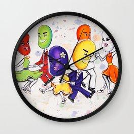 Jitterbuggin' Jellybeans Wall Clock