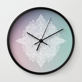 Mehndi Tattoo Ancient India Wall Clock
