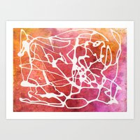 brain waves Art Prints featuring Brain Waves by Andrea Gingerich