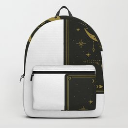 Tarot Card Crescent Moon and Black Witch Backpack