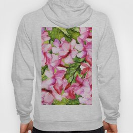 Aloha-my tropical pink oleander flower garden Hoody