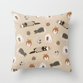 small pets Throw Pillow