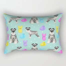 Schnauzer dog breed peeps marshmallow easter spring dog pattern gifts schnauzers Rectangular Pillow