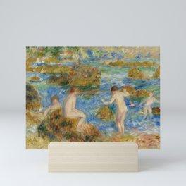 """Auguste Renoir """"Garçons nus dans les rochers à Guernsey"""" Mini Art Print"""