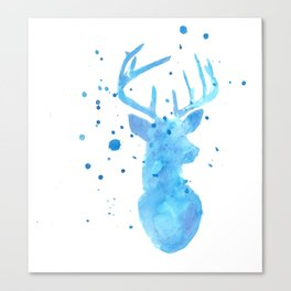 Blue deer Canvas Print