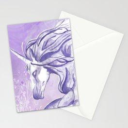 PURPLE UNICORN Stationery Cards