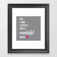 And I think to myself fuchsia Framed Art Print