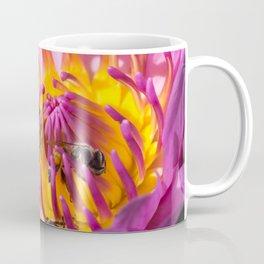 Bees in lotus Coffee Mug