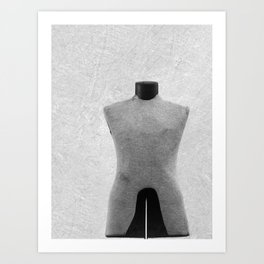 Vintage Dress Form in Black and White Art Print