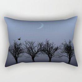 4 Trees Rectangular Pillow