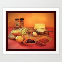 baking Art Prints featuring Baking Cookies by Bebop's Place