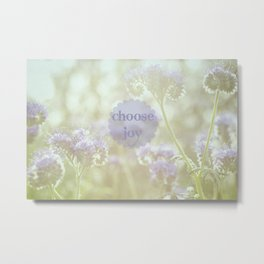 Choose Joy Metal Print