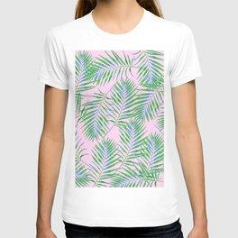 Fern Leaves Pink T-shirt