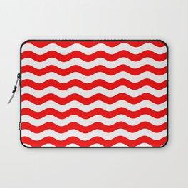 Wavy Stripes (Red/White) Laptop Sleeve