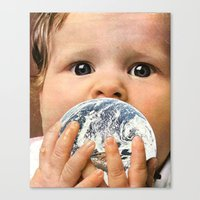 breakfast Canvas Prints featuring breakfast by flores