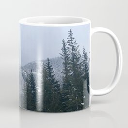 Snowy Peaks Above a Green Forest in Victoria, B.C. (Canada) Coffee Mug