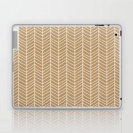 Chevron Light Brown Laptop & iPad Skin